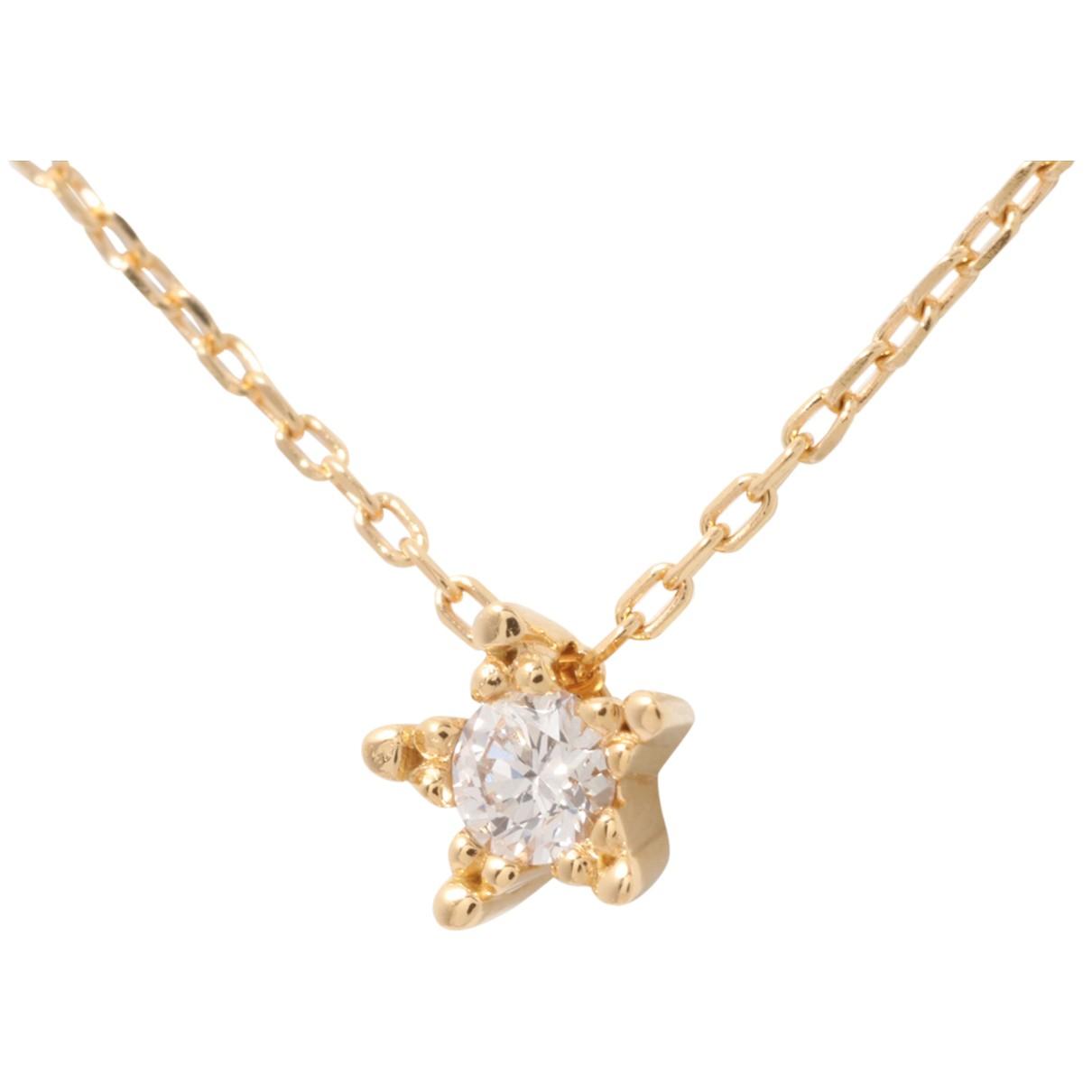 - Collier Motifs Etoiles pour femme en or jaune - dore