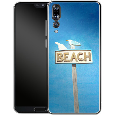 Huawei P20 Pro Silikon Handyhuelle - Beach von Joy StClaire