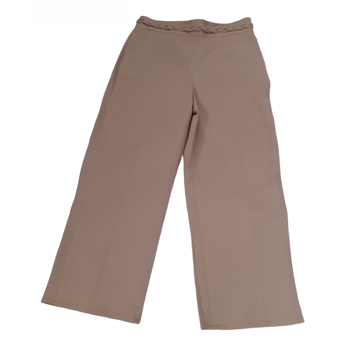 Red Valentino Garavani \N Beige Cotton Trousers for Women 42 IT