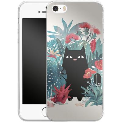 Apple iPhone 5s Silikon Handyhuelle - popoki von Little Clyde