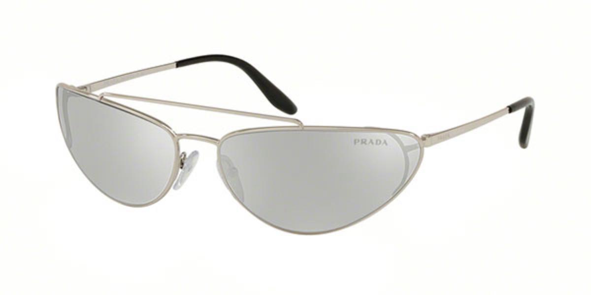 Prada PR62VS 1BC1I2 Women's Sunglasses Silver Size 66
