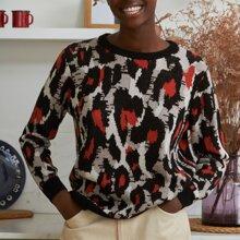 Jersey con patron de leopardo