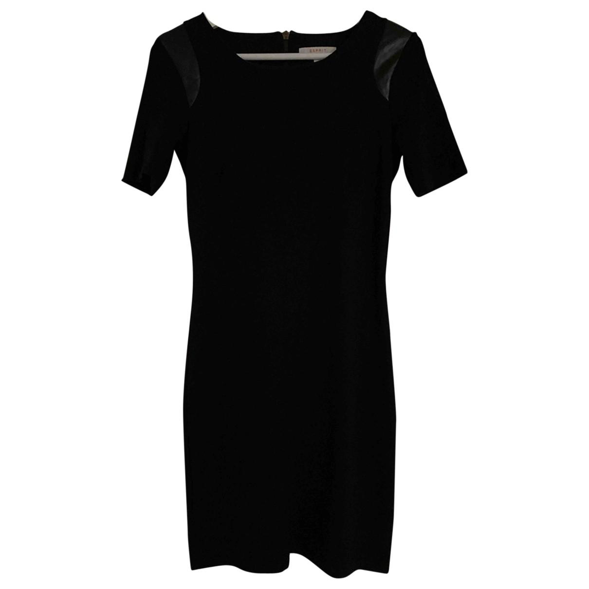 Esprit \N Kleid in  Schwarz Viskose