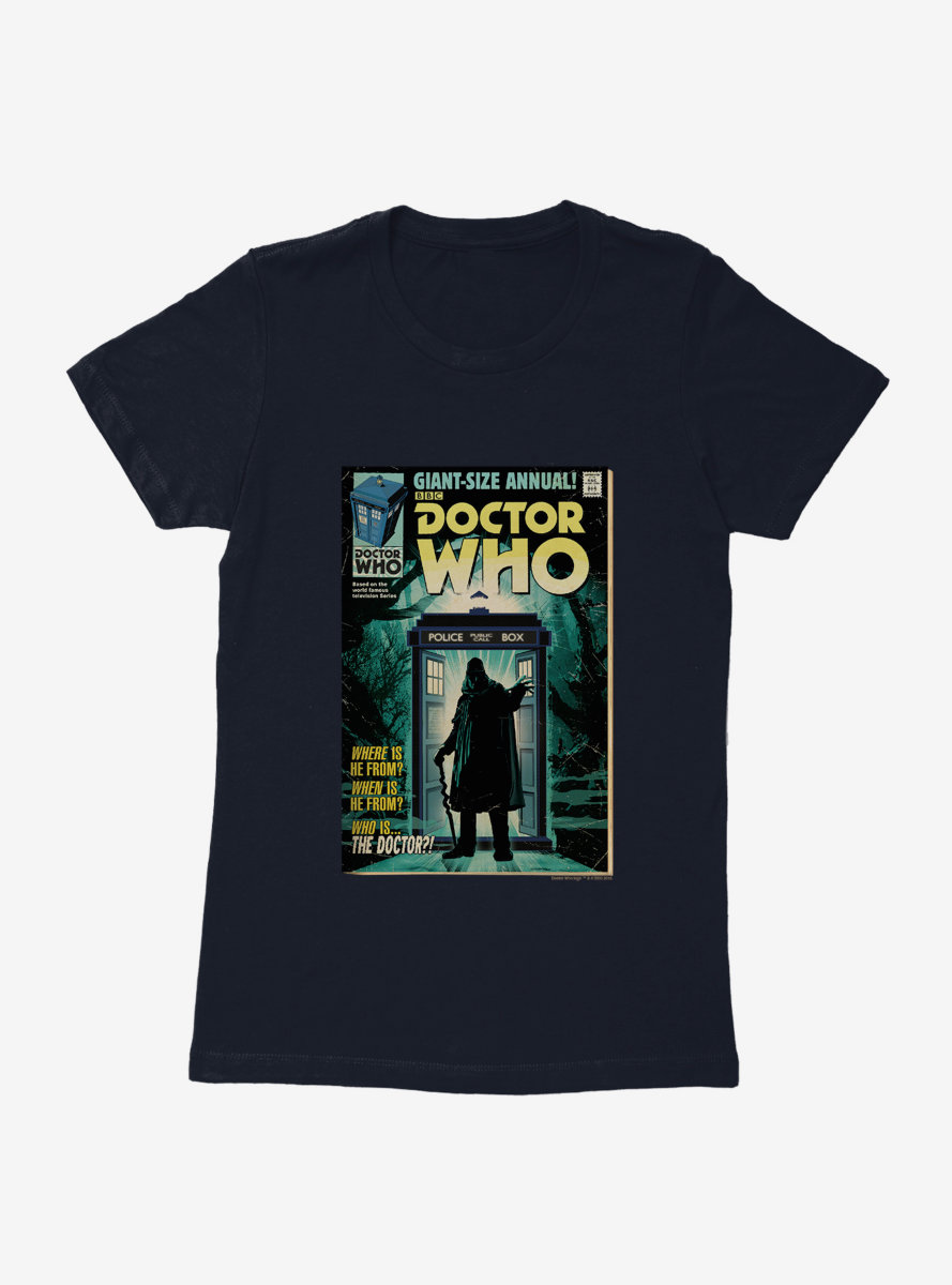 Doctor Who First Doctor Who Are They Comic Womens T-Shirt