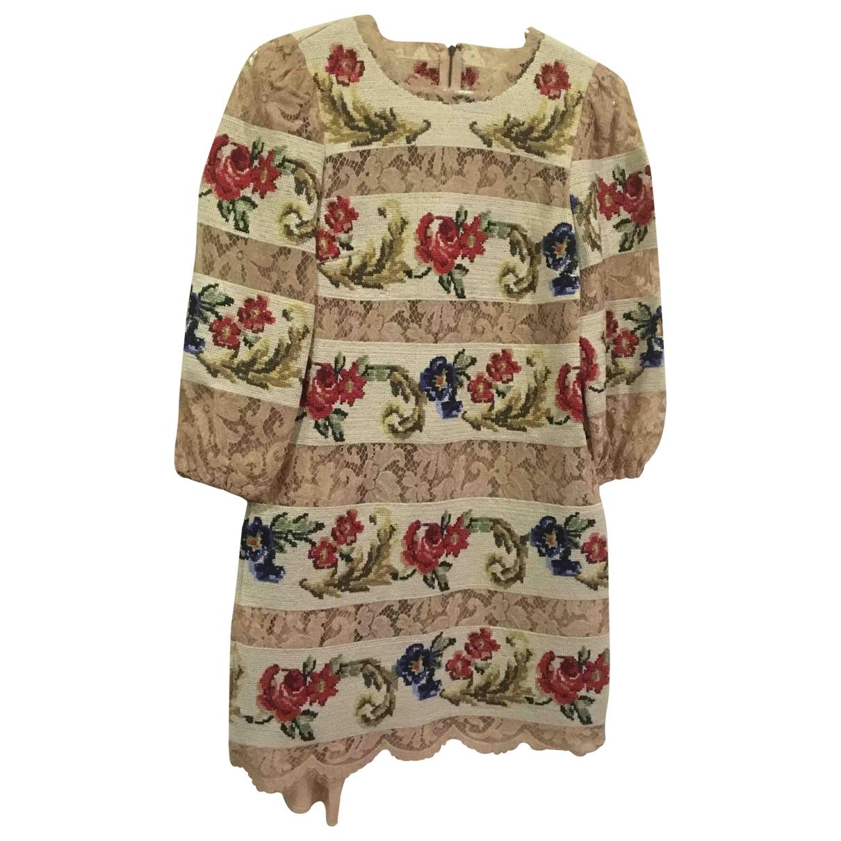 Dolce & Gabbana - Robe   pour femme - beige
