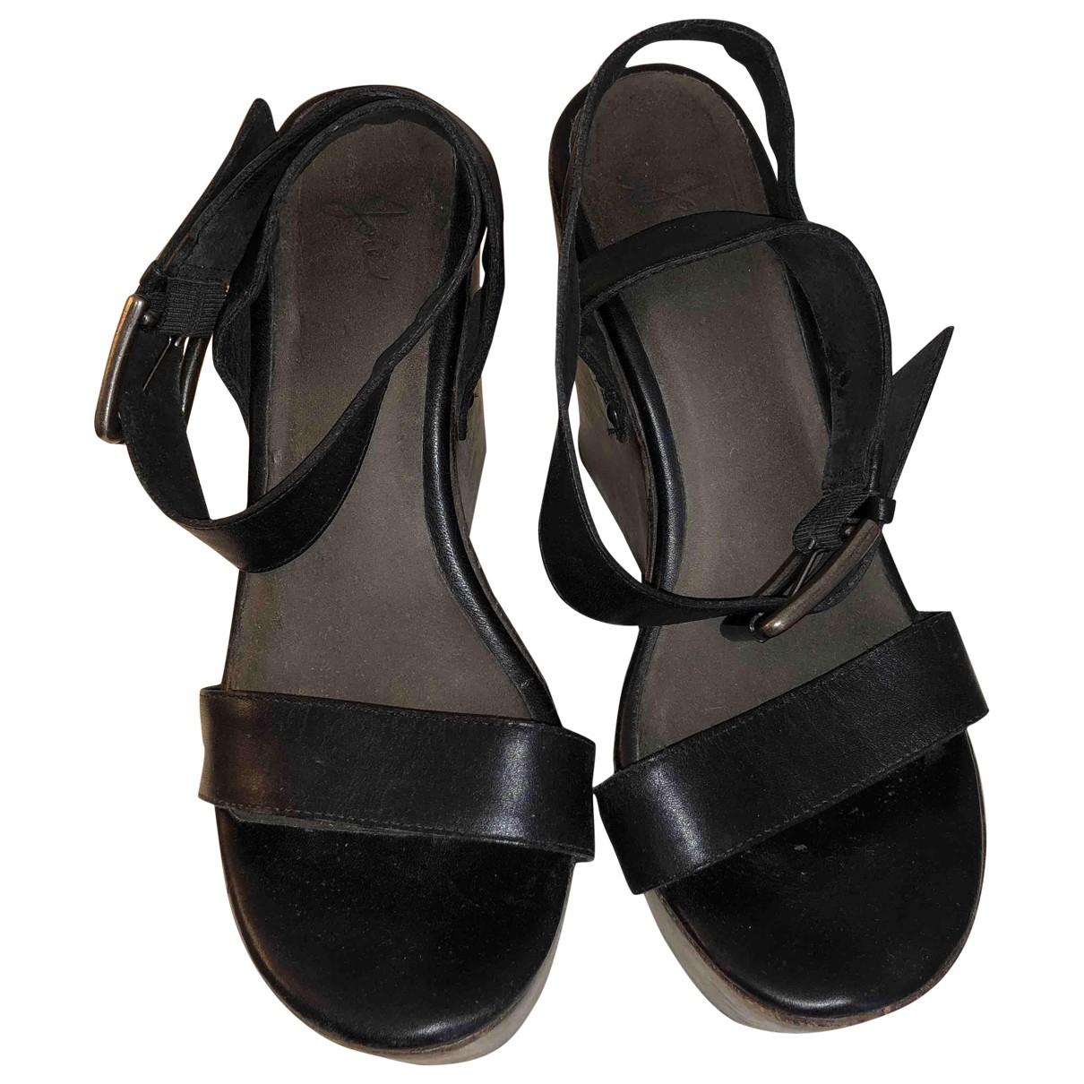 Joie - Escarpins   pour femme en cuir - noir