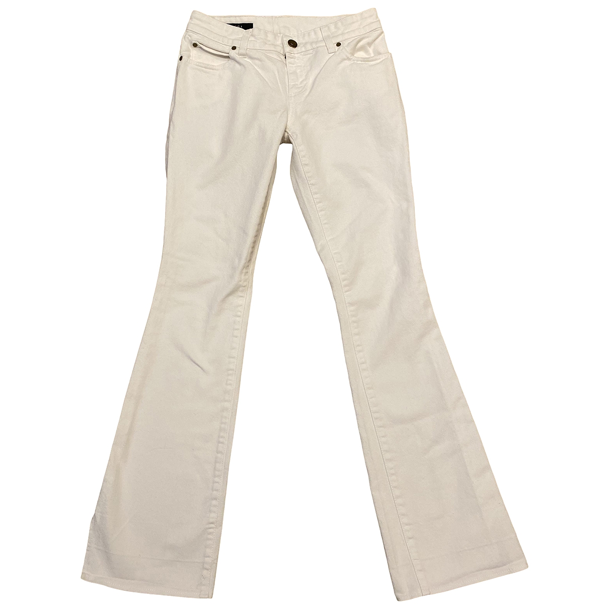 Gucci \N White Denim - Jeans Trousers for Women 38 IT