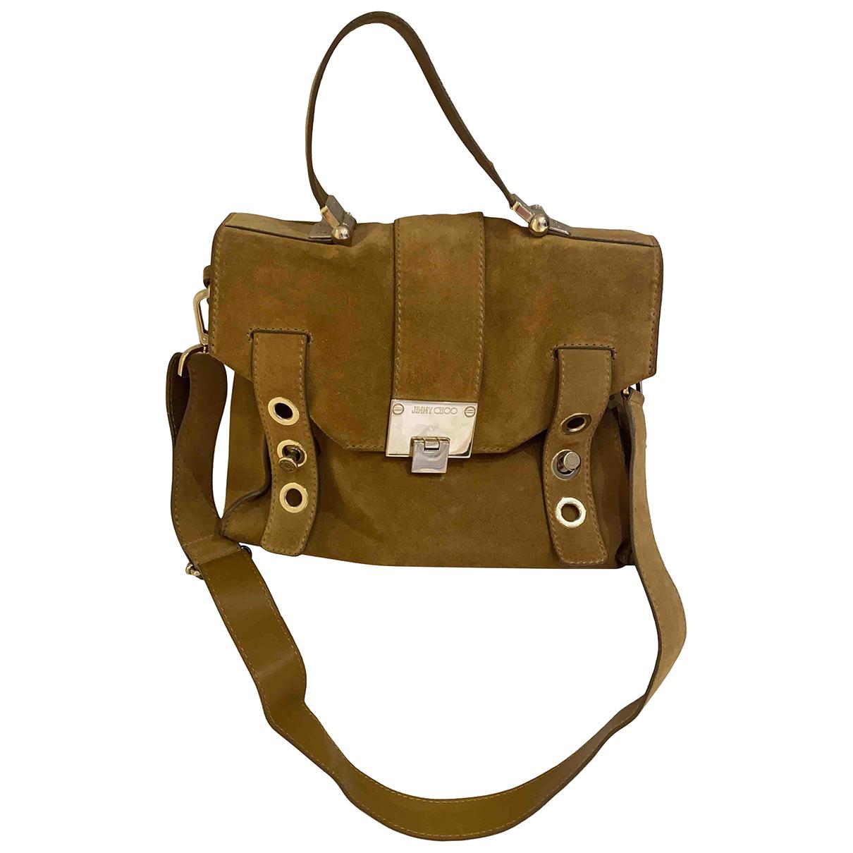Jimmy Choo \N Handtasche in  Braun Veloursleder
