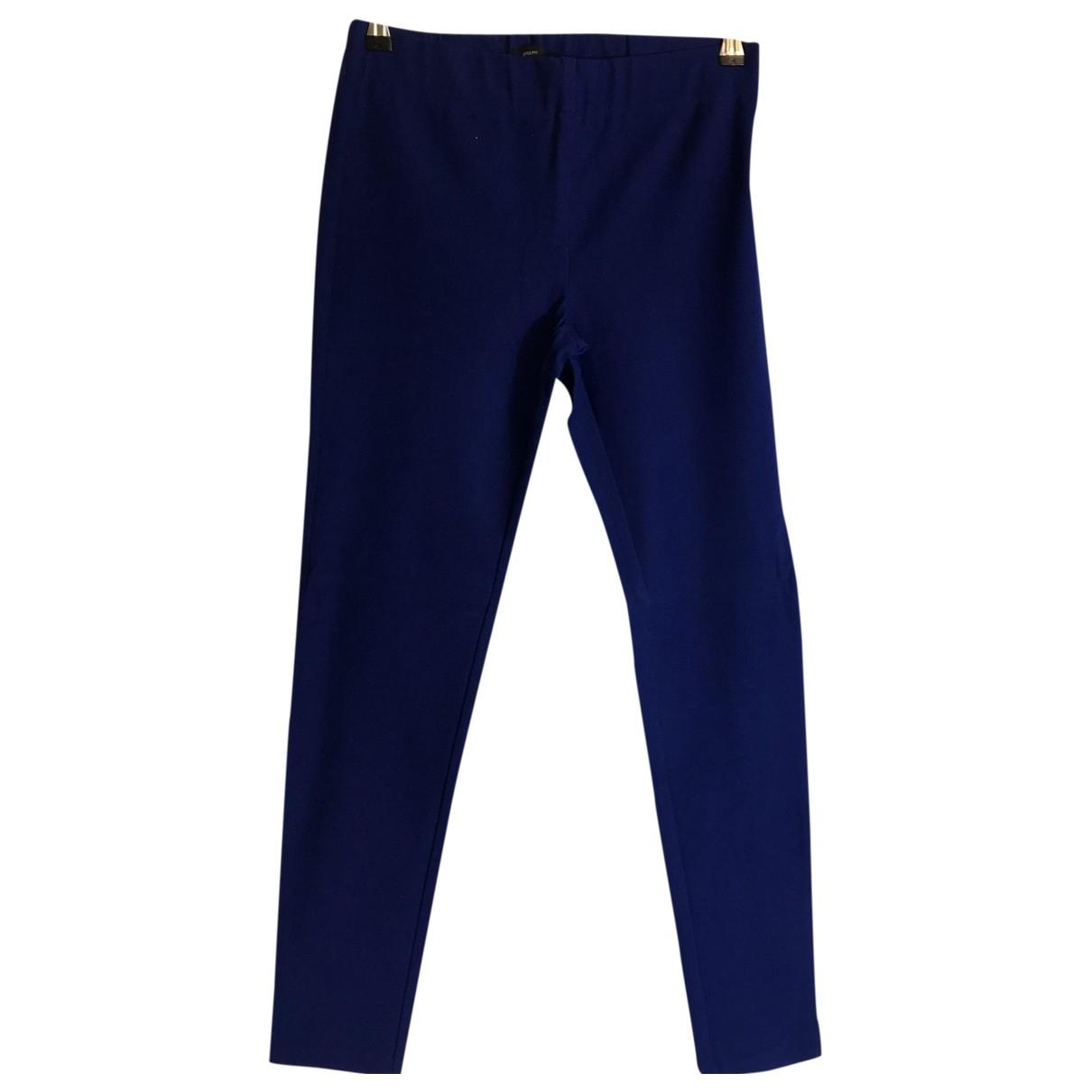 Joseph \N Blue Trousers for Women 40 FR