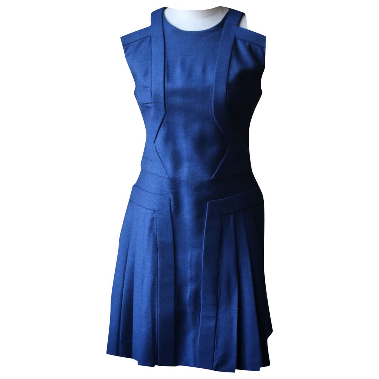 Hakaan - Robe   pour femme en laine - bleu