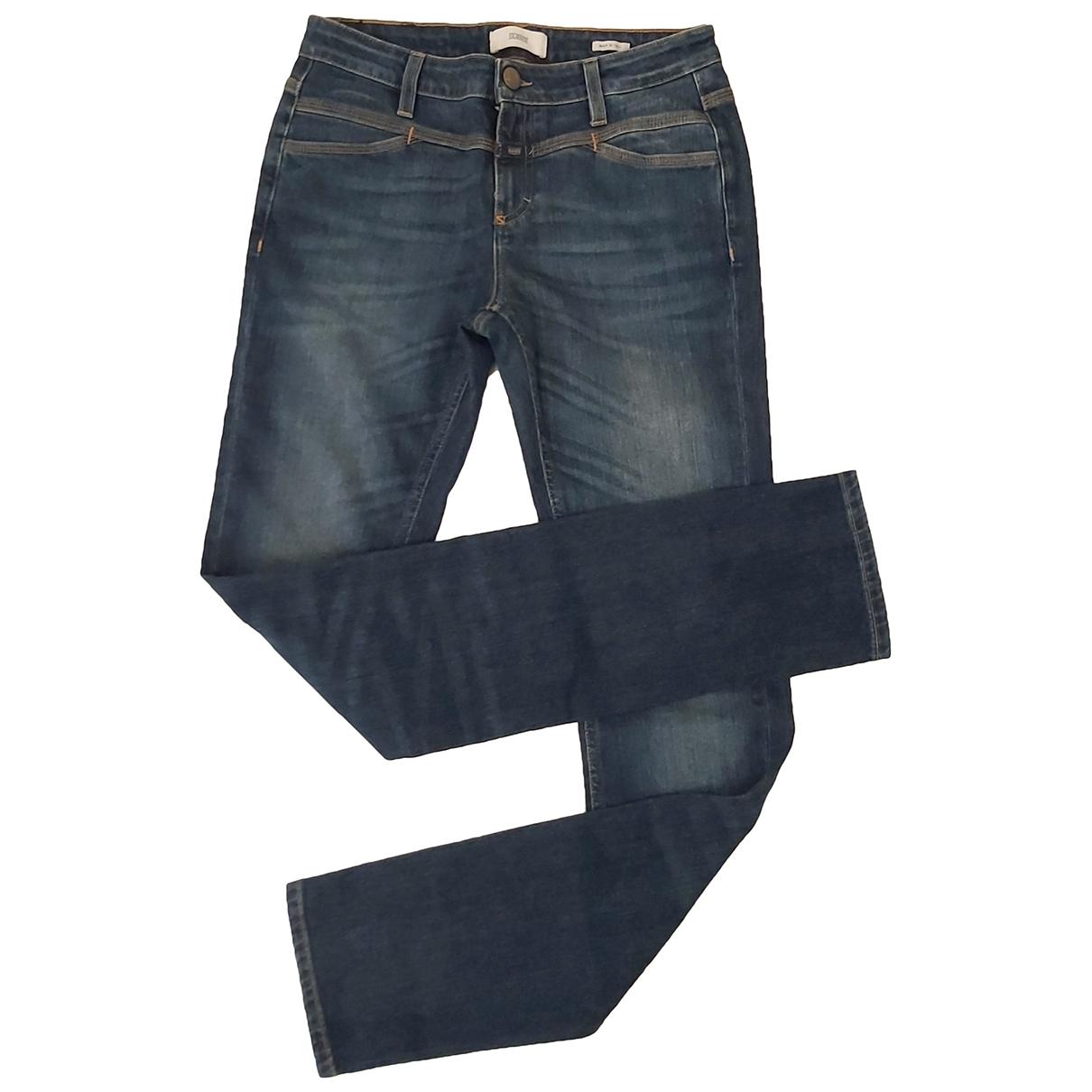 Closed - Jean   pour femme en coton - elasthane - bleu