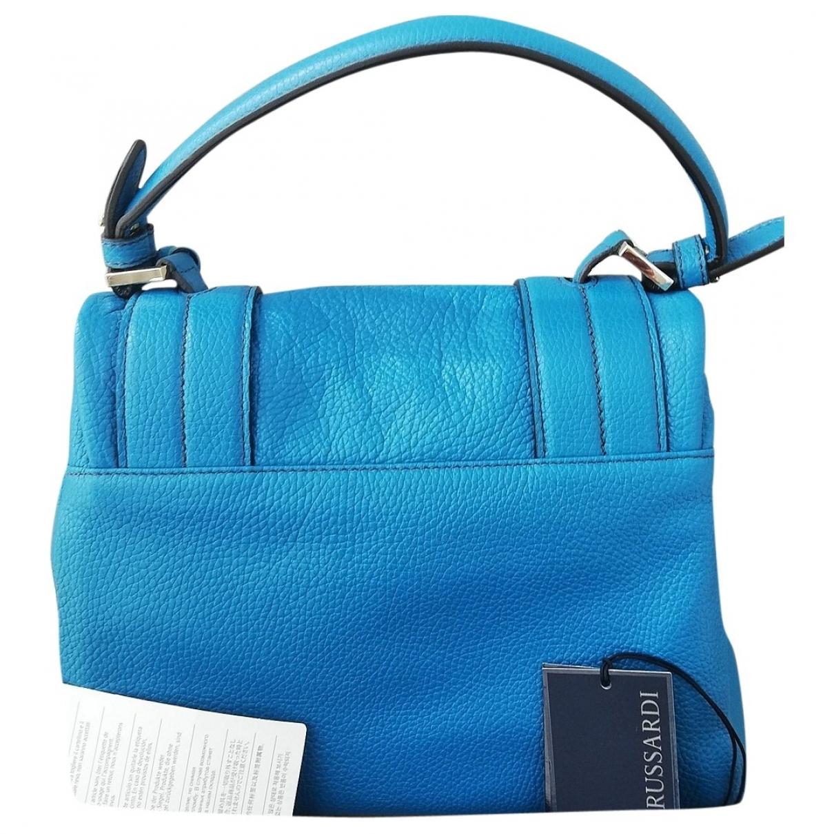 Trussardi \N Handtasche in  Tuerkis Leder