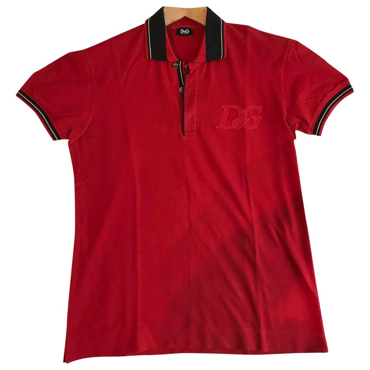 D&g - Polos   pour homme en coton - rouge