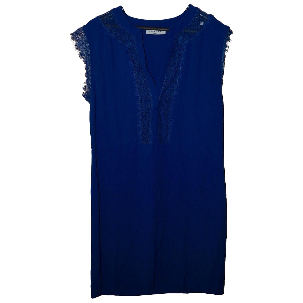 Sandro - Robe   pour femme - bleu