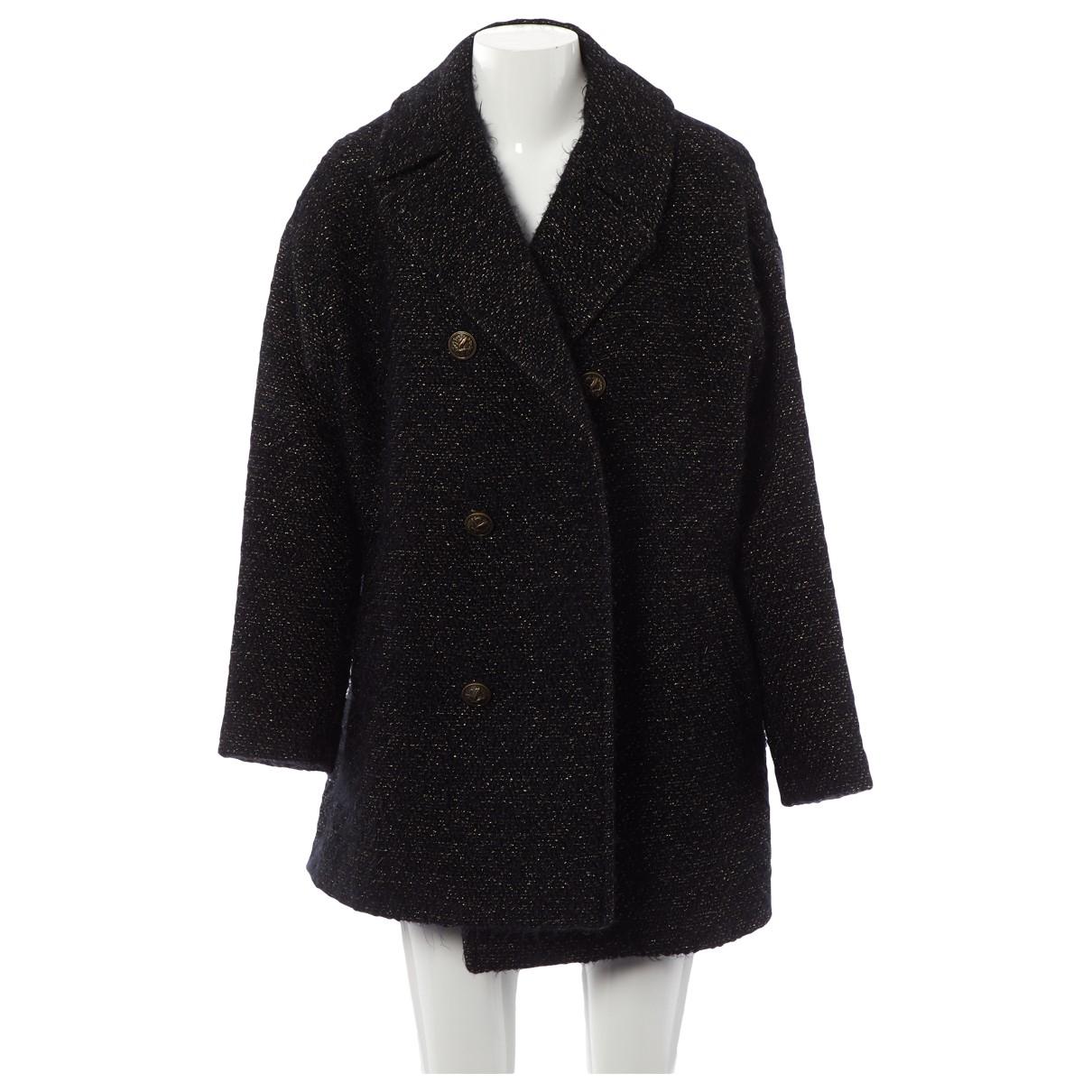 Saint Laurent - Manteau   pour femme en laine - noir