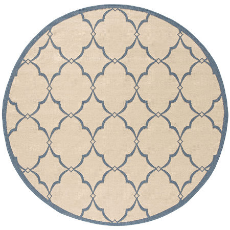 Safavieh Linden Collection Dina Geometric Round Area Rug, One Size , Multiple Colors