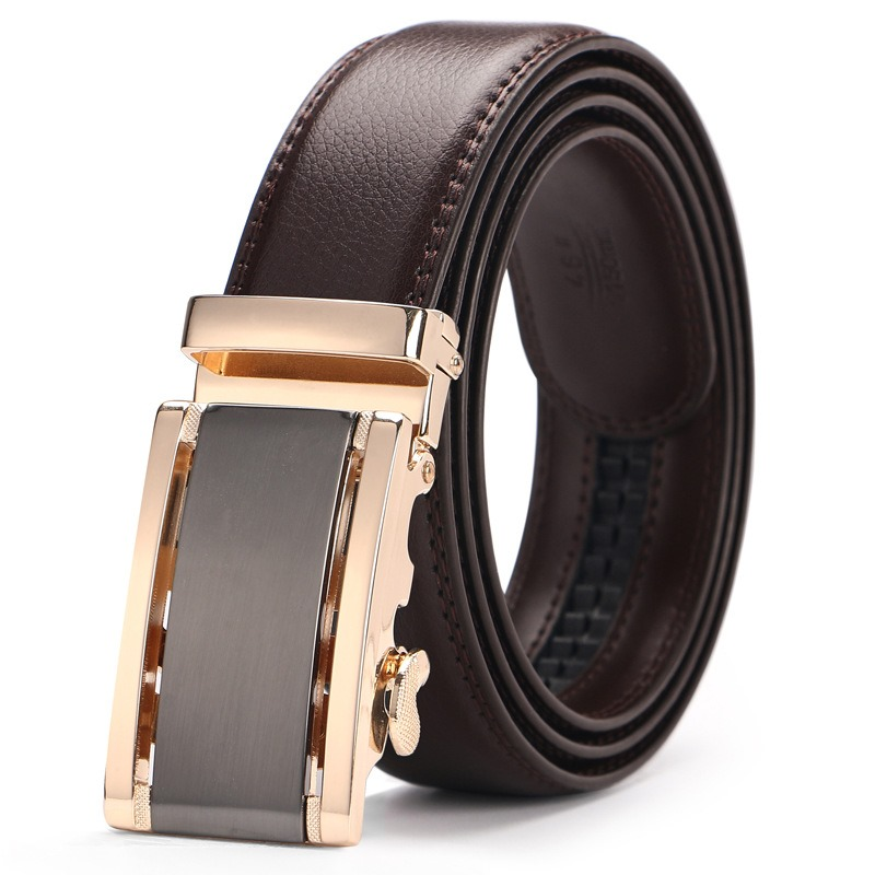 Ericdress Leather Automatic Buckle Men's Fashion Belt