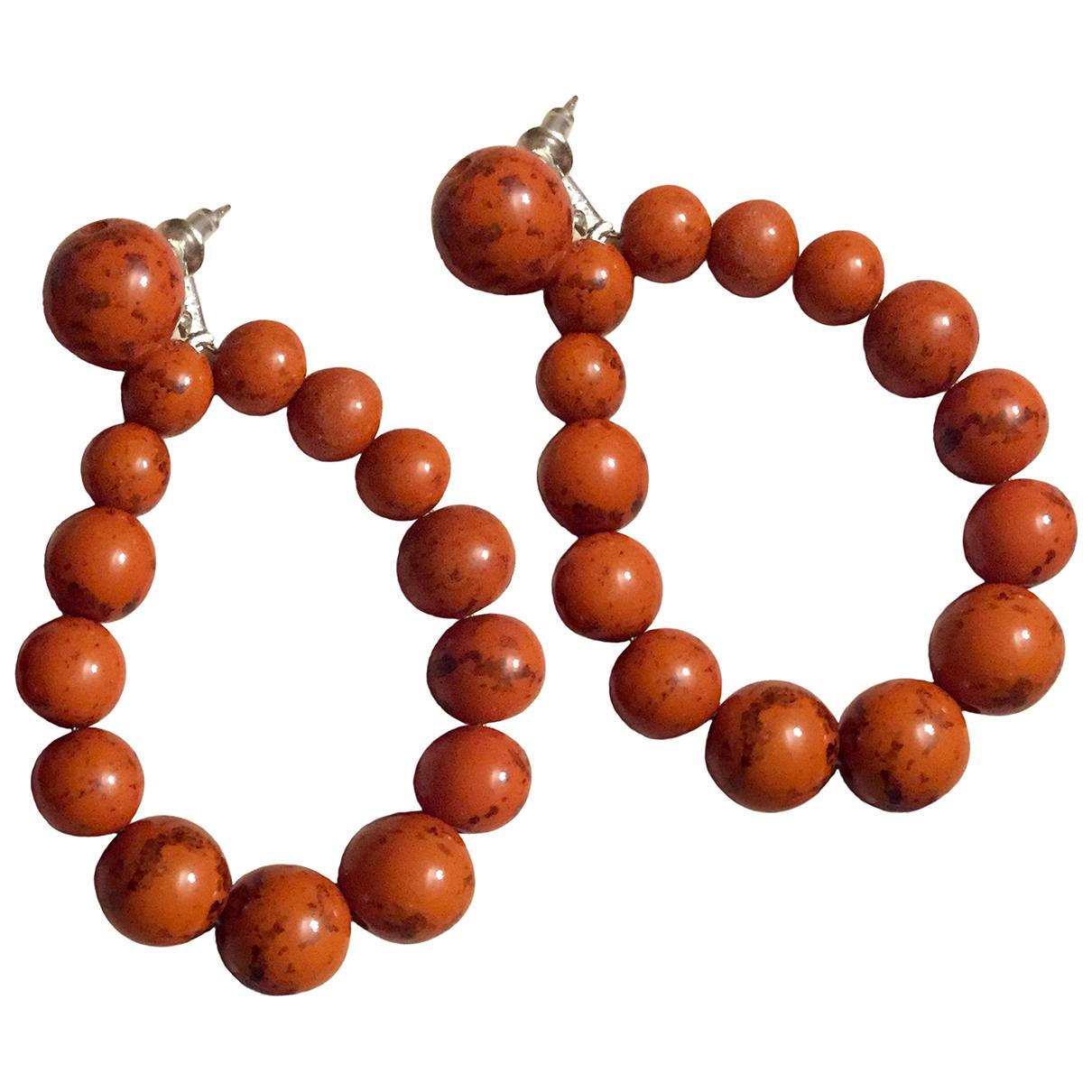- Boucles doreilles   pour femme en perles - rouge