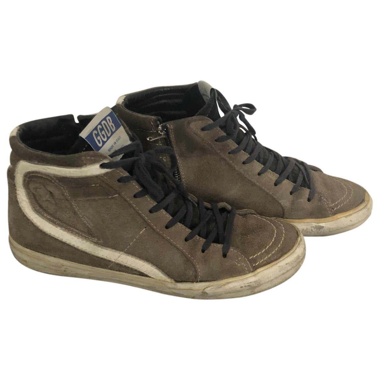 Golden Goose Slide Brown Leather Trainers for Women 38 EU