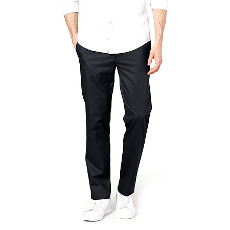 Dockers Men's Slim Fit Signature Khaki Lux Cotton Stretch Pants D1, 38 32, Black