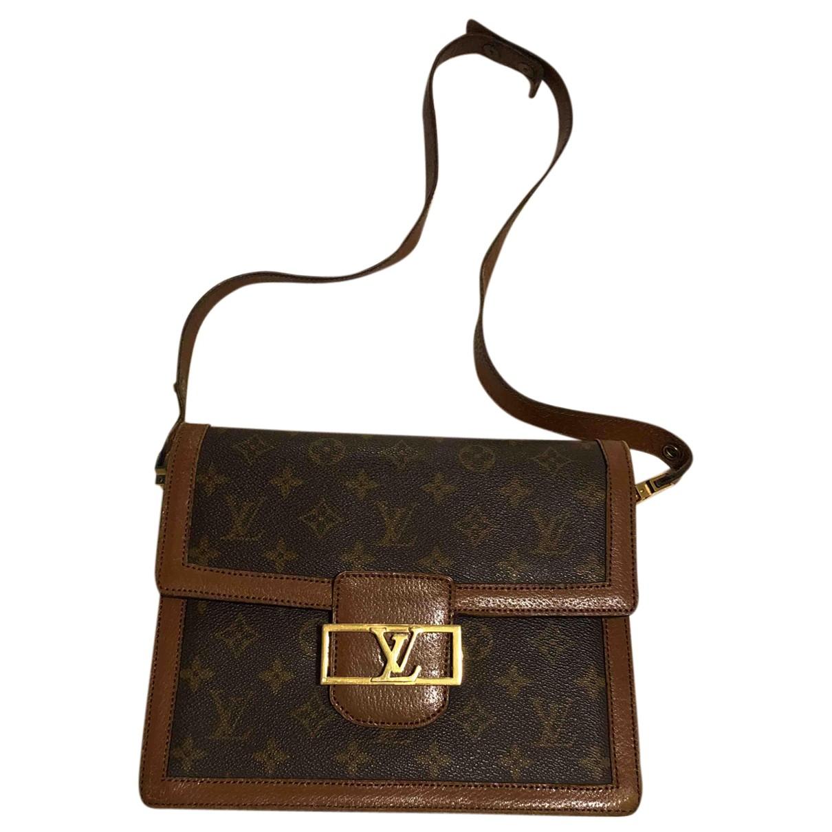 Louis Vuitton Dauphine Vintage Handtasche in  Braun Leder