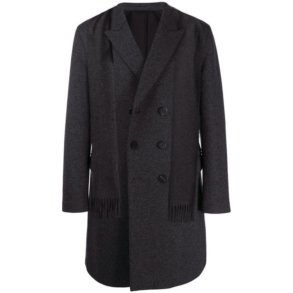 Neil Barrett Double Breasted Wool Great Jacket Colour: GREY, Size: EXT