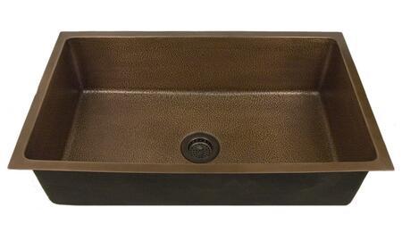 KSCSB3044-AC Rocio 36 Copper Single Bowl Undermount Kitchen Sink