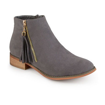 Journee Collection Womens Trista Ankle Booties, 10 Medium, Gray