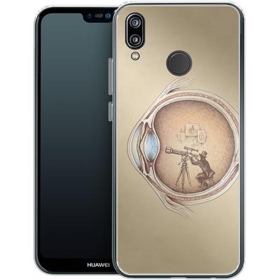Huawei P20 Lite Silikon Handyhuelle - Extraordinary Observer von Enkel Dika
