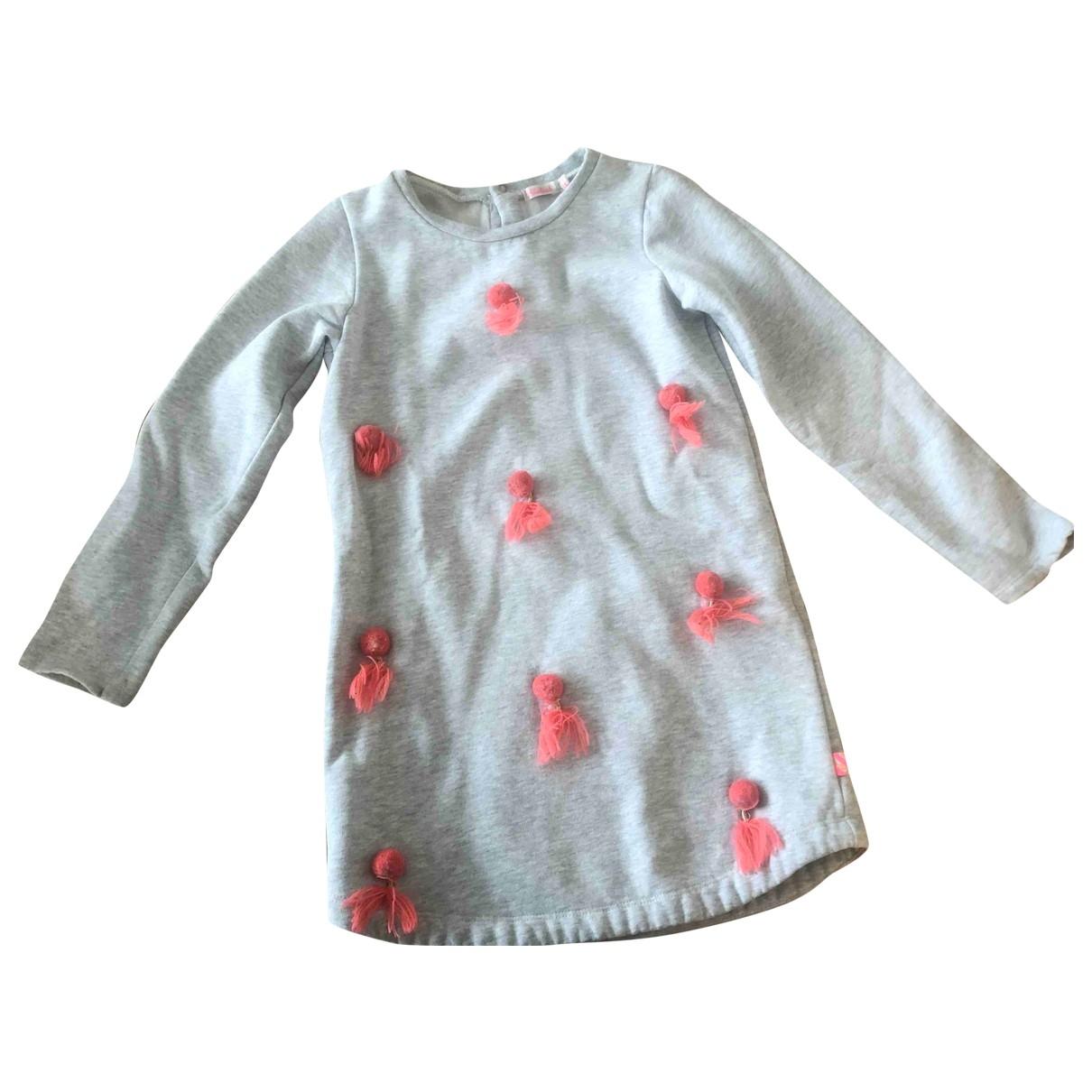 Billieblush \N Kleid in  Grau Baumwolle - Elasthan