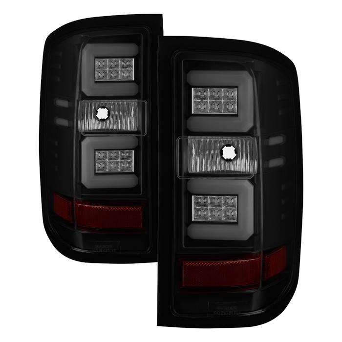 Spyder Auto ALT-YD-CS16-LED-BSM Light Bar LED Tail Lights Black Smoke Chevrolet Silverado 16-17