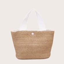 Minimalist Braided Bucket Bag