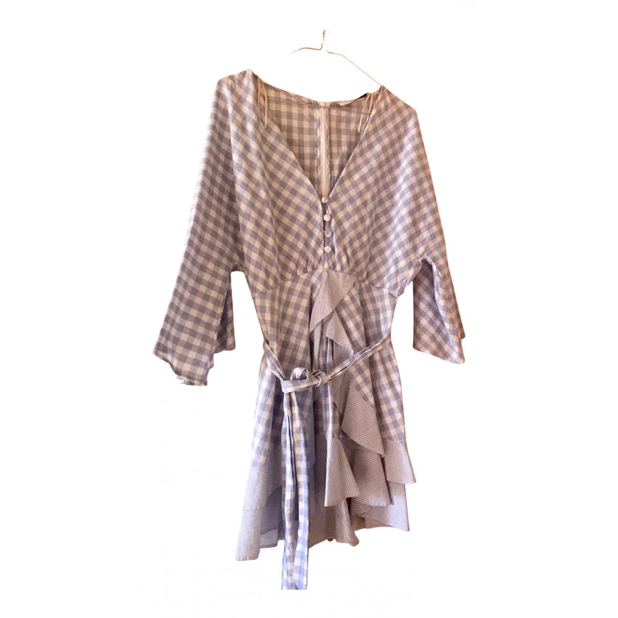 Uterque - Robe   pour femme en coton - bleu