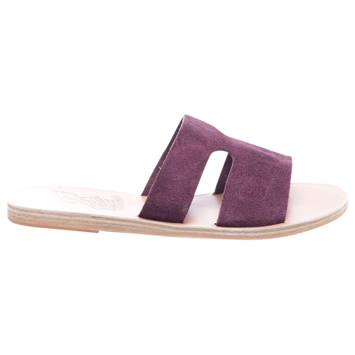 Ancient Greek Sandals - Sandales   pour femme en cuir