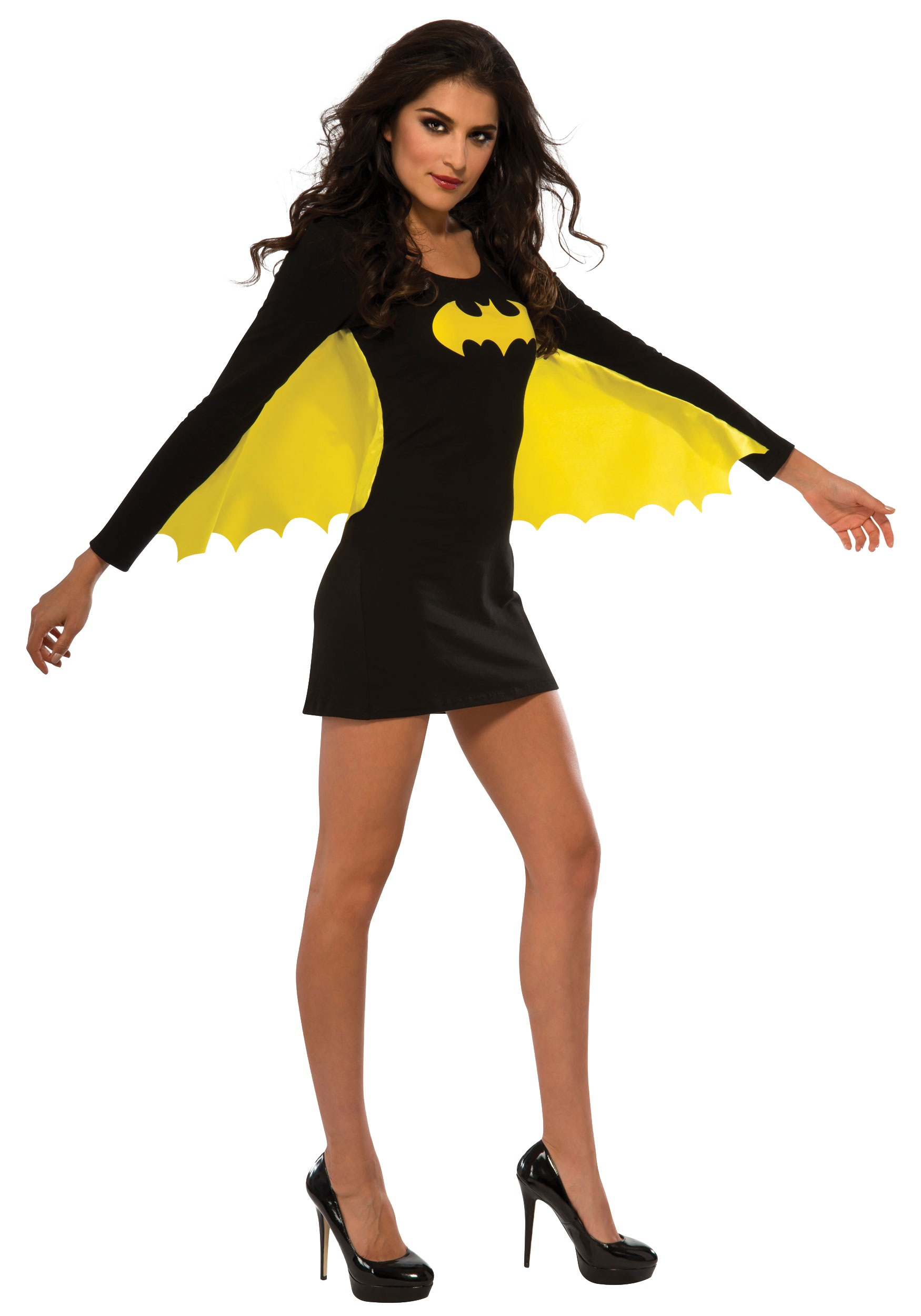 Womens Batgirl Yellow Wing Dress Costume