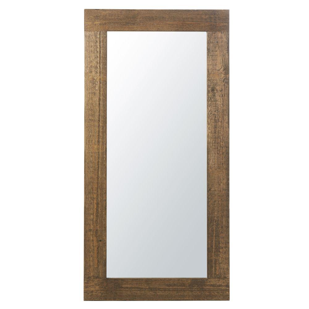 Spiegel mit Kiefernholz-Rahmen 82x165