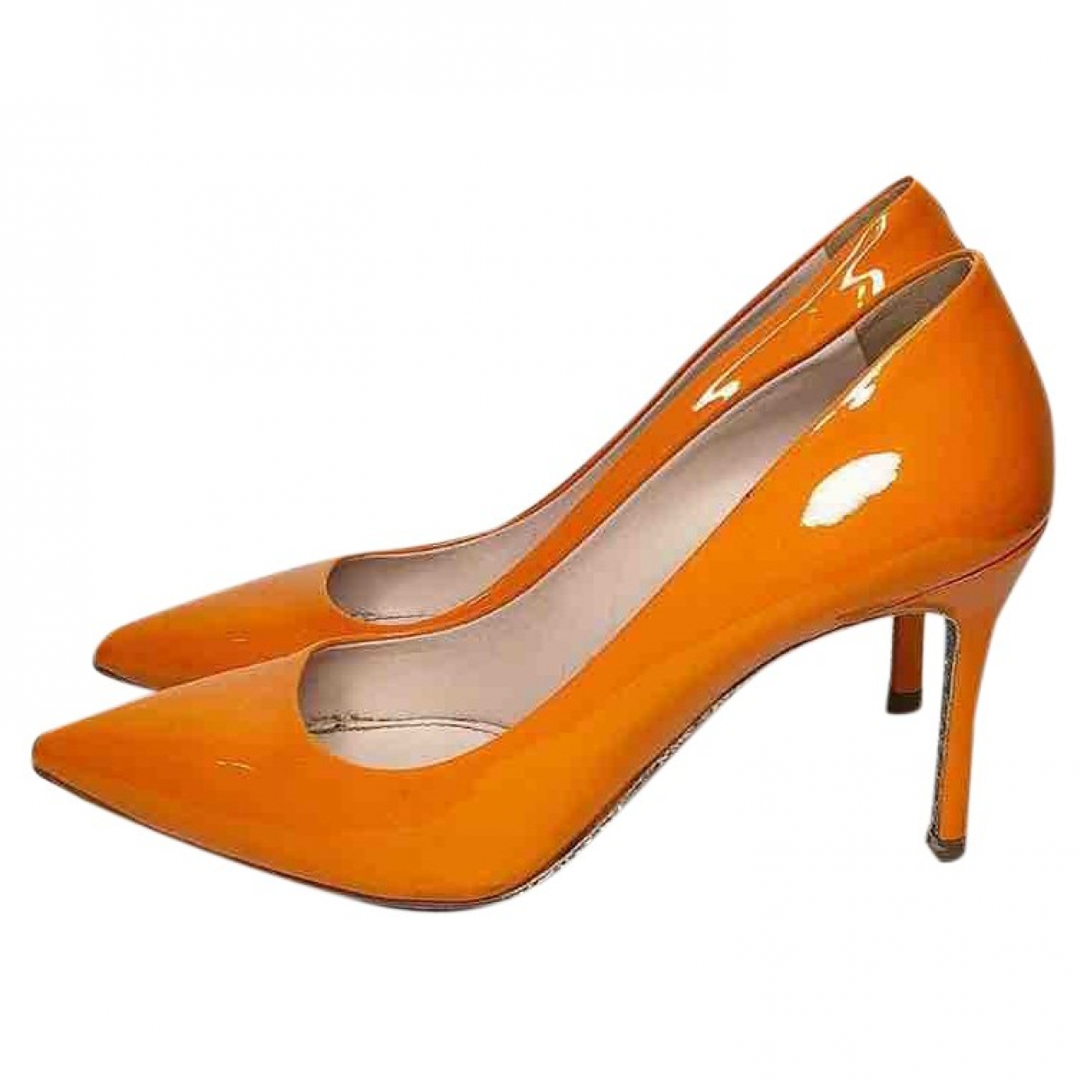 Miu Miu - Escarpins   pour femme en cuir verni - orange