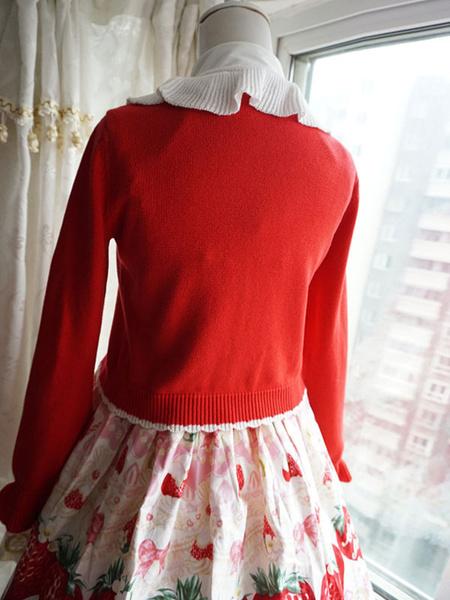Milanoo Sweet Lolita Cardigan Cotton Blend Lolita Top