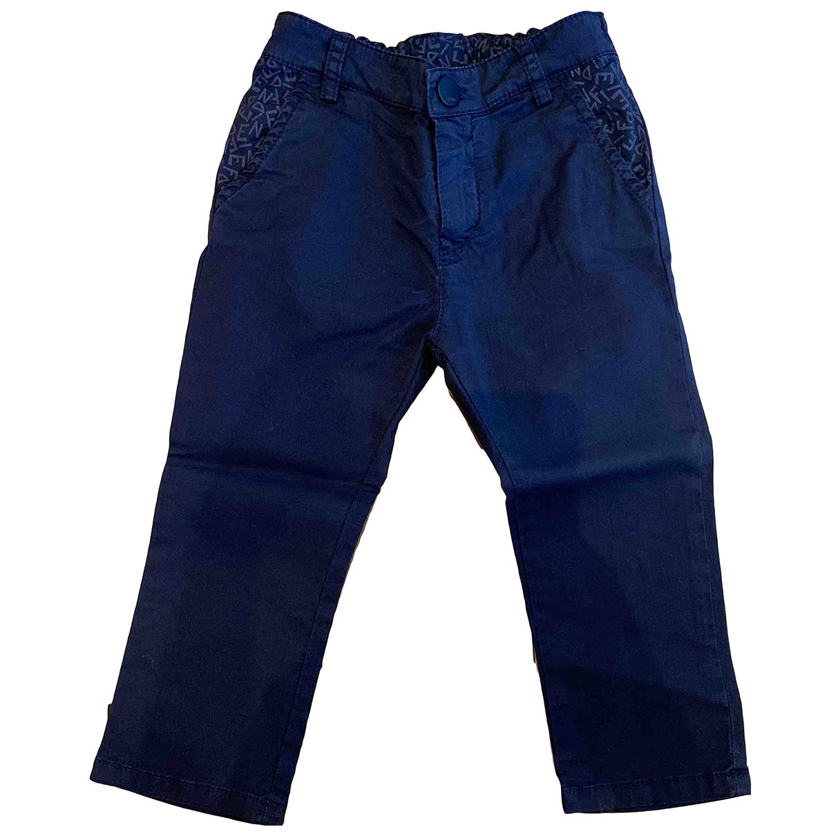 Fendi \N Blue Cotton Trousers for Kids 18 months - up to 81cm FR