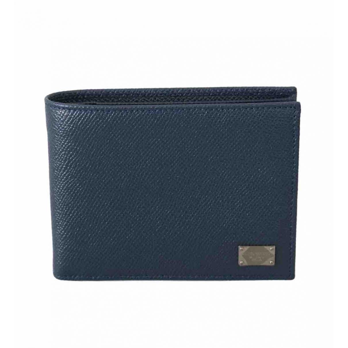 Dolce & Gabbana - Petite maroquinerie   pour homme en cuir - bleu