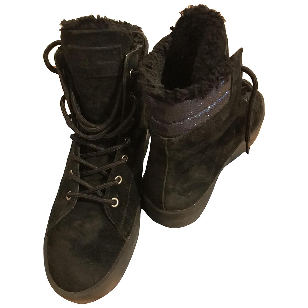Pepe Children Shoes \N Stiefel in  Schwarz Veloursleder