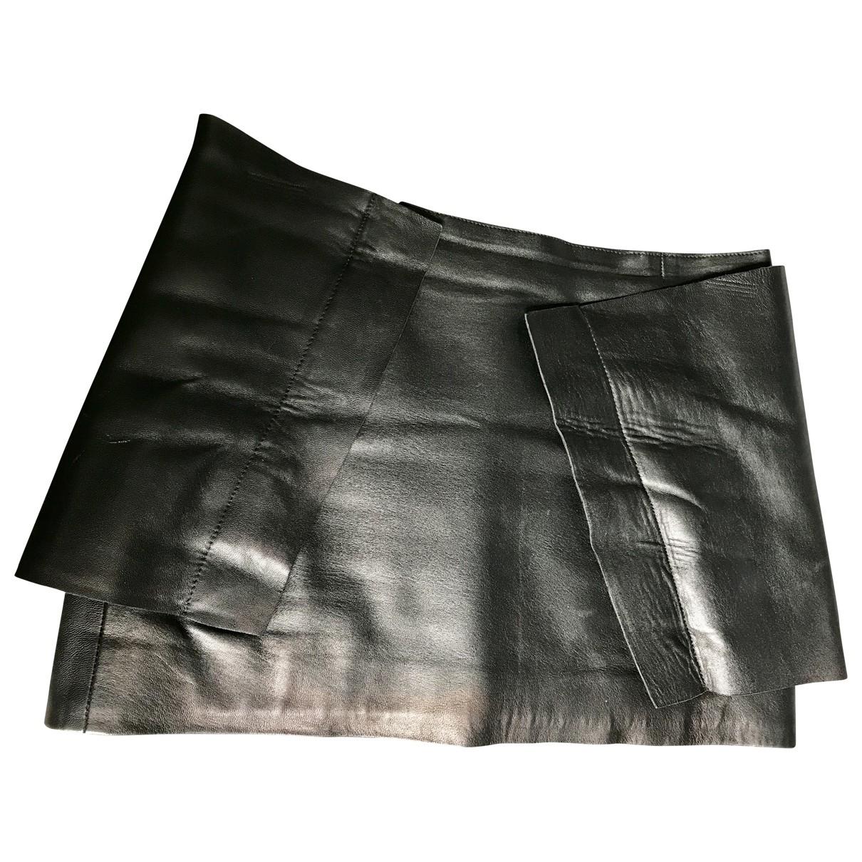 J.w. Anderson - Jupe   pour femme en cuir - noir