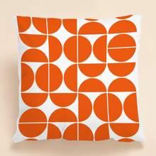Kissenbezug mit geometrischem Muster ohne Fuelle