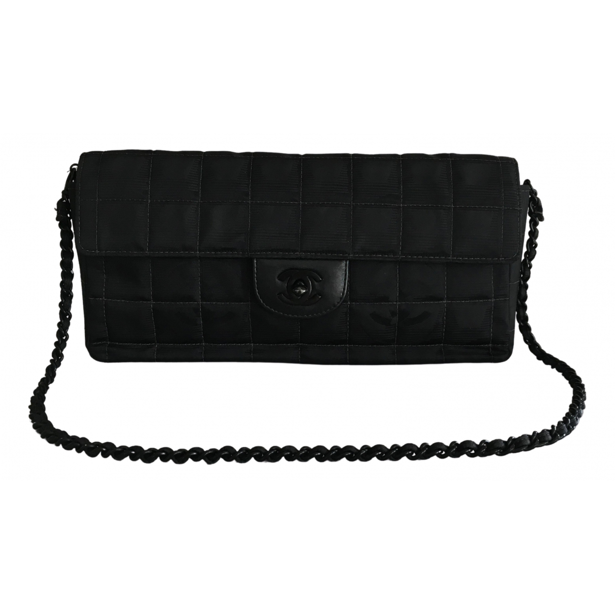 Chanel East West Chocolate Bar Black Cloth handbag for Women \N