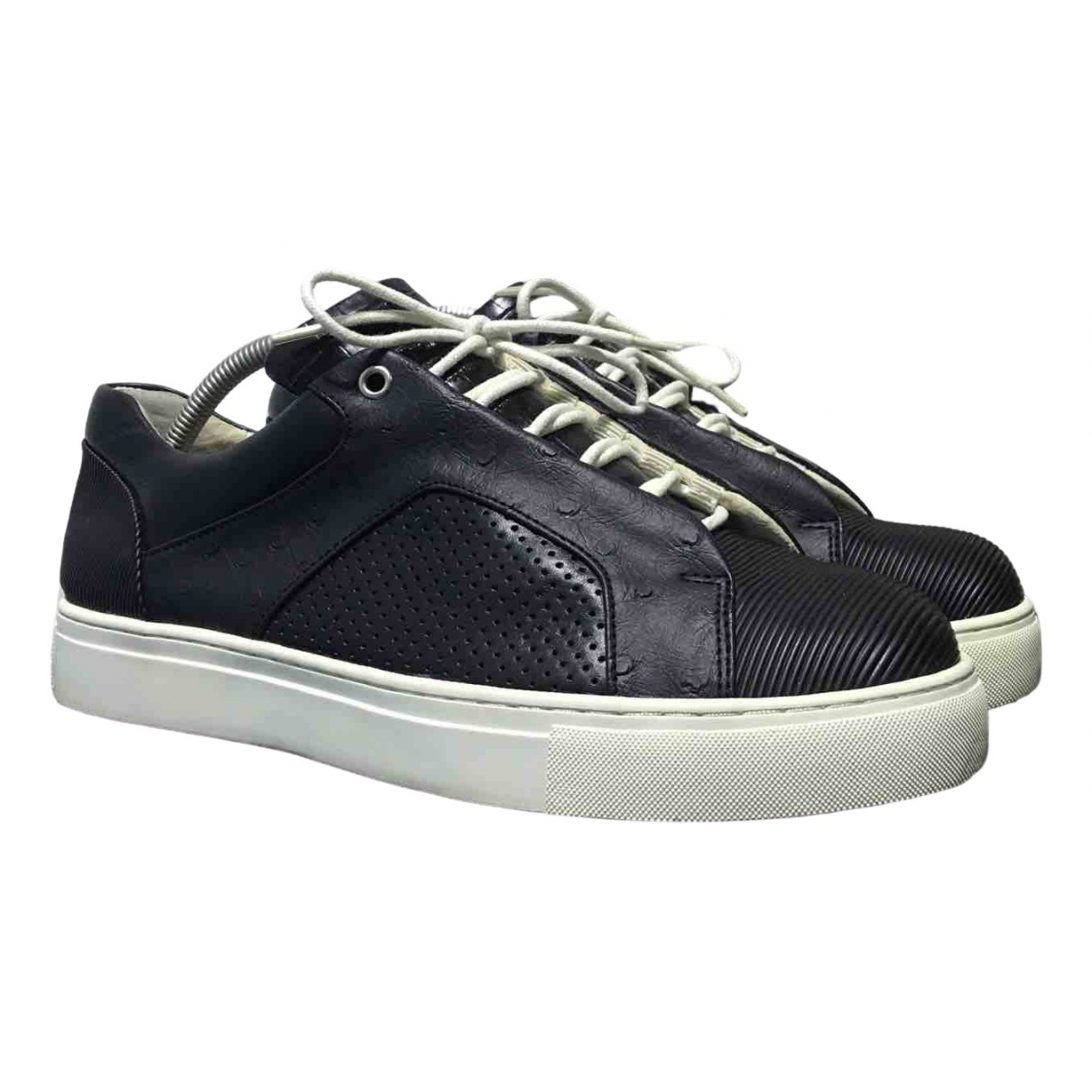 Issey Miyake \N Black Leather Trainers for Men 41 IT