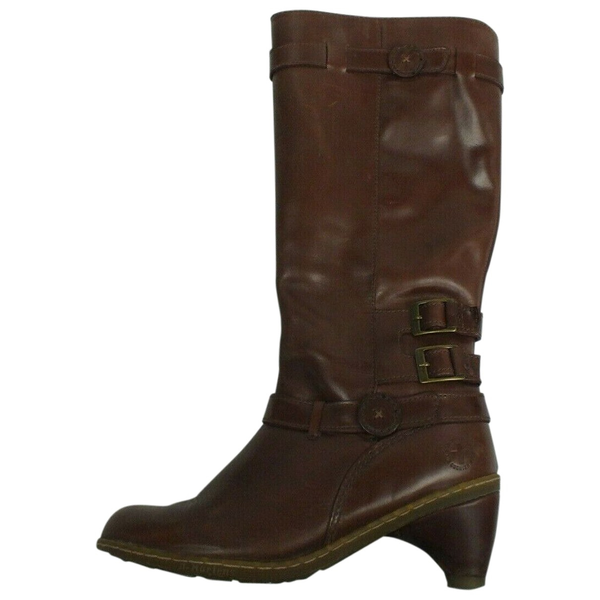 Dr. Martens - Bottes   pour femme en cuir - marron