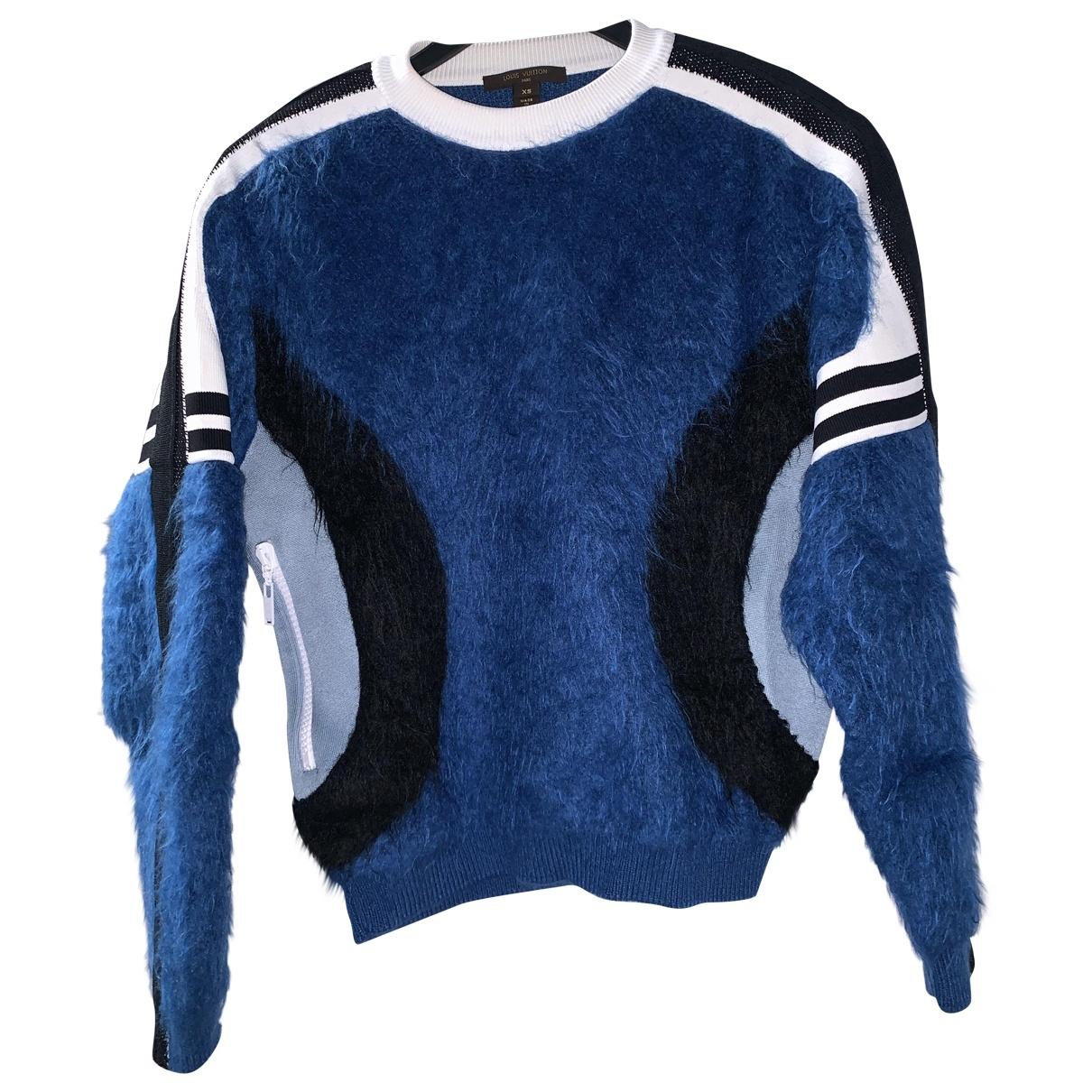 Louis Vuitton - Pull   pour femme en laine - bleu