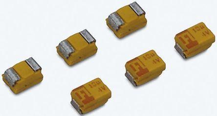 AVX Tantalum Capacitor 150μF 6.3V dc MnO2 Solid ±20% Tolerance , TAJ (5)
