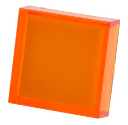 RS PRO Orange Square Push Button Lens for use with ADA16 Series