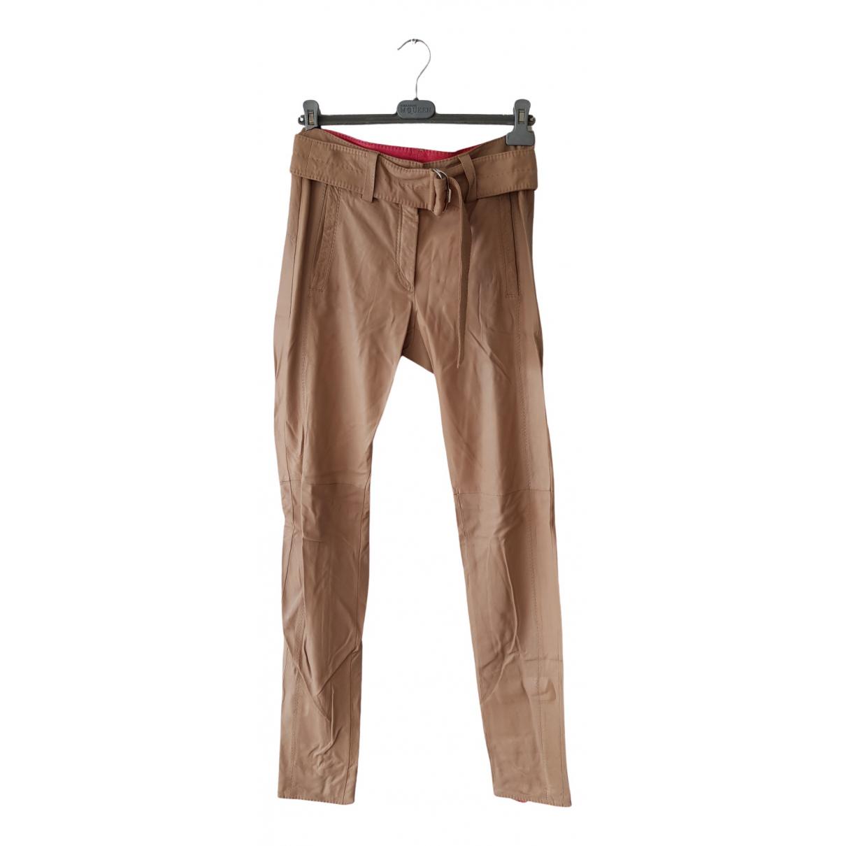 Pantalon de traje de Cuero Escada